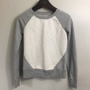 Missimo textured cropped sweatshirt. Size XS